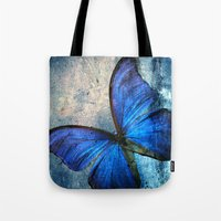 butterfly Tote Bags featuring butterfly  by mark ashkenazi