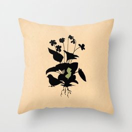 New Jersey - State Papercut Print Throw Pillow