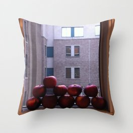 Sweet Delicious Awesome Apples  Throw Pillow