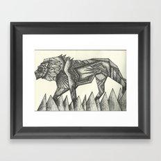 lion.  Framed Art Print