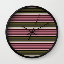 Horizontal stripe. Wall Clock