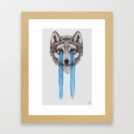 Don't Cry Wolf Framed Art Print