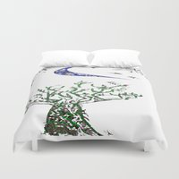 greg guillemin Duvet Covers featuring Moon Tree by Greg Phillips by SquirrelSix
