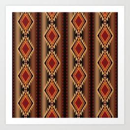 southwest stripe Art Print