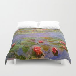 "Claude Monet ""Red Water Lilies"", 1919 Duvet Cover"