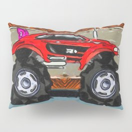 Sports Car Monster Truck Pillow Sham