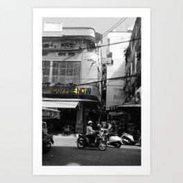 Coffee culture in Vietnam Art Print