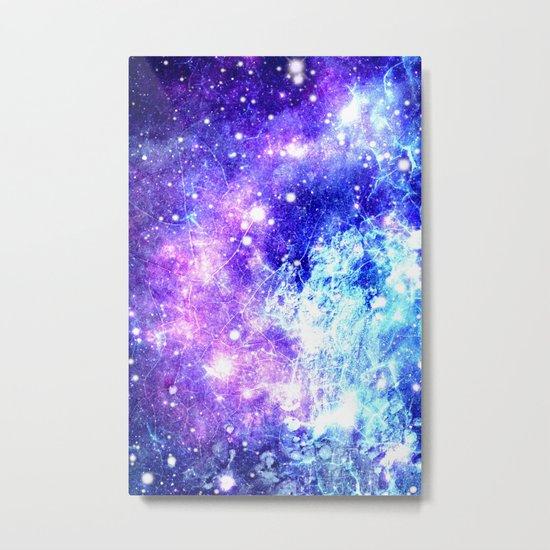 Chaotic Space : Galaxy Bright Purple & Blue Metal Print