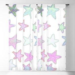 Funky Pastel Stars! Blackout Curtain