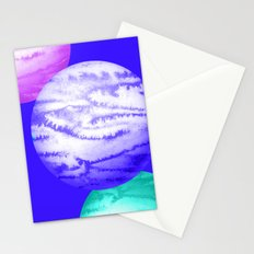 Illustration of watercolor round planet Stationery Cards