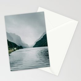 On the Road I Fjord in Norway Nature Photography Stationery Cards