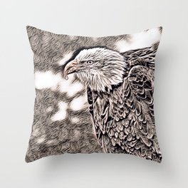 Rustic Style - Eagle Throw Pillow