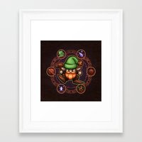 gnome Framed Art Prints featuring Gnome  by likelikes