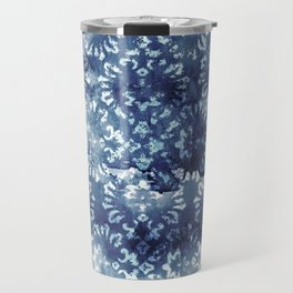Indigo Batik Abstract Travel Mug