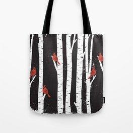 Northern Cardinal Birds Tote Bag