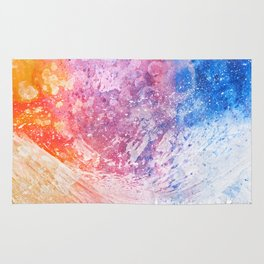 Abstract Acrylic Mountain Rug