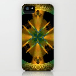 Spinning Wheel Hubcap in Gold iPhone Case