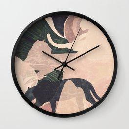 Nomade II. Illustration Wall Clock