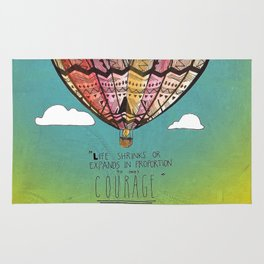 Life Expands quote Rug
