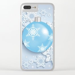 Christmas ball with snowflakes Clear iPhone Case