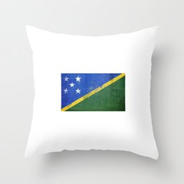 Solomon Islands Flag design design Throw Pillow