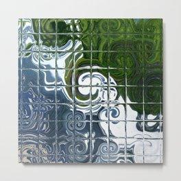 Square Glass Tiles 105 Metal Print