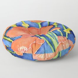 Pardon my Poppies Floor Pillow