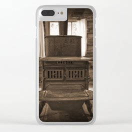 The Stove In The Cabin Clear iPhone Case