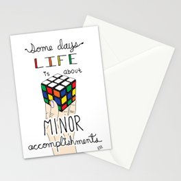 Some Days Life Is About Minor Accomplishments Stationery Cards