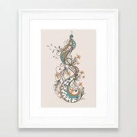 peacock Framed Art Prints featuring Peacock by Tracie Andrews