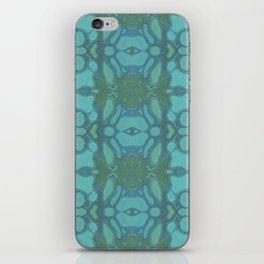 Evergreen and Aqua Nouveau Pattern iPhone Skin