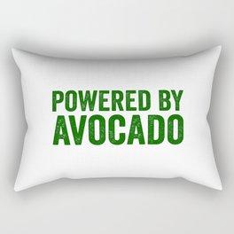 Powered By Avocado Rectangular Pillow