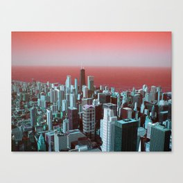 Chicago in Red Canvas Print
