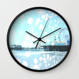 Turquoise Spiderweb Pier Wall Clock