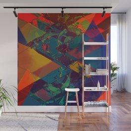 Collision waves Wall Mural