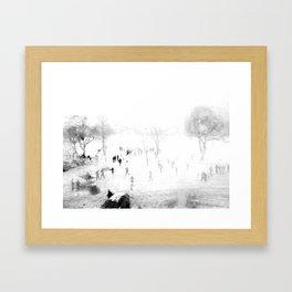 Snow Through Glass Framed Art Print