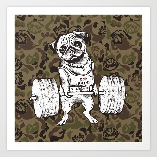 Pug Lift Camo by huebucket