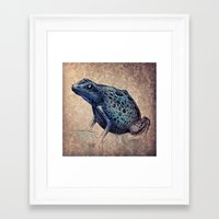 frog Framed Art Prints featuring Frog by Werk of Art