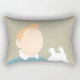5 minutes Tintin and Snowy Rectangular Pillow
