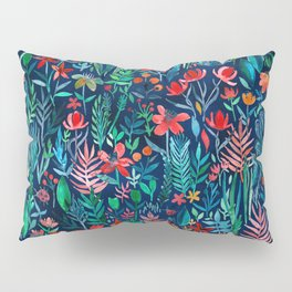 Tropical Ink - a watercolor garden Pillow Sham