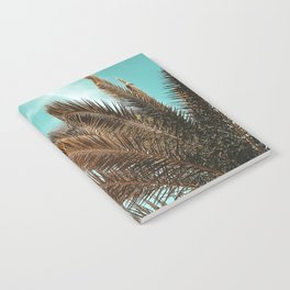 Summer Palm Leaf Print {1 of 3}   Teal Sun Sky Beach Vibes Tropical Plant Nature Art Notebook