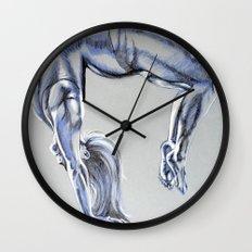 Bend Over Backwards Wall Clock