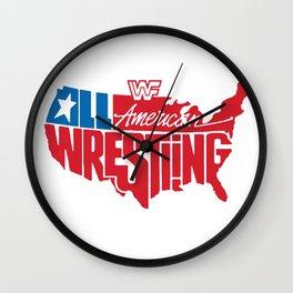 All American Wrestling Wall Clock