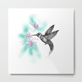 Purple November Metal Print