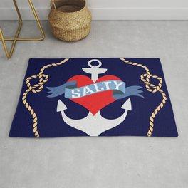Old Salt Sailor Heart Rug
