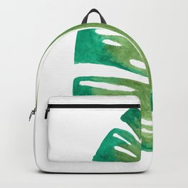 Banana Leaf Watercolor Painting Backpack