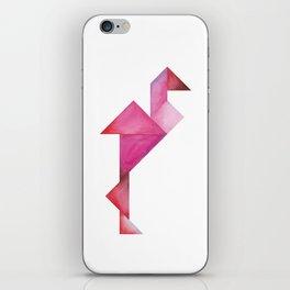 Tangram Flamingo iPhone Skin