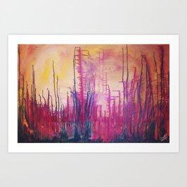 Beauty on Fire Art Print