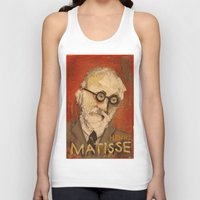 matisse Tank Tops featuring 50 Artists: Henri Matisse by Chad Beroth