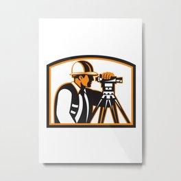 Surveyor Geodetic Engineer Survey Theodolite Metal Print